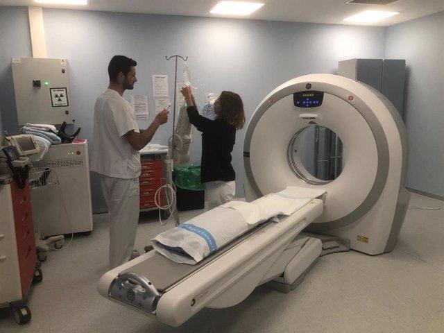 Un total de 13 pacients s'han sotmès a un TAC amb contrast endovenós en el