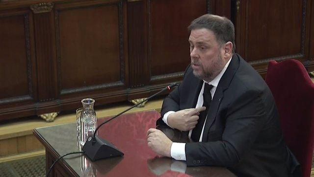 L'ex-vicepresident de la Generalitat de Catalunya, Oriol Junqueras, declara en