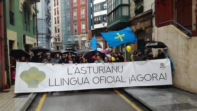 Centenares de personas reclaman en Gijón la oficialidad del asturiano en la próx