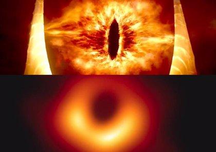 La primera imagen de un agujero negro y su parecido con el Ojo de Sauron desatan la locura en las redes