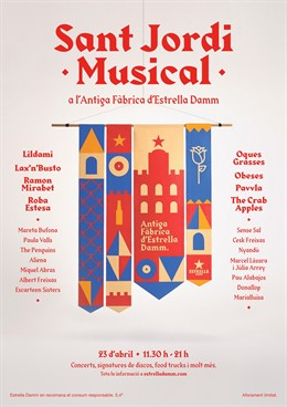 L'Antiga Fàbrica Damm programa 30 concerts per a Sant Jordi amb Lax'n'Bust i