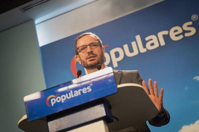 Presentación del eslogan de campaña del PP para las próximas elecciones generales del 28 de abril