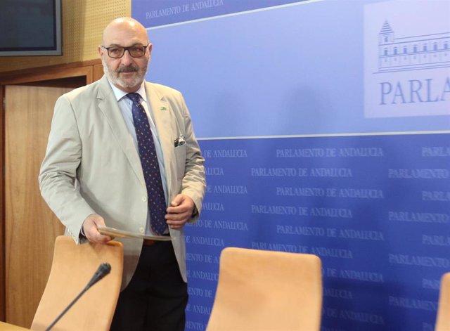 Rueda de prensa del portavoz parlamentario de Vox Andalucía, Alejandro Hernández