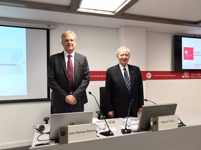 AV.- Cámara de Barcelona mantiene al 2,1% la previsión de crecimiento del PIB catalán para 2019