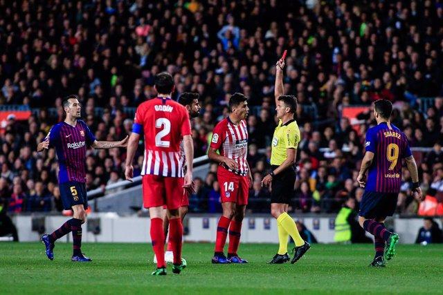 Fútbol.- Competición sanciona con ocho partidos a Diego Costa por su expulsión en el Camp Nou