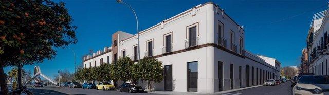 Sevilla.-Licencia de obras para las 30 viviendas del edificio de Barqueta, que respeta la fachada de Espiau y Muñoz