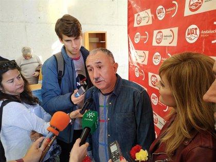 """Álvarez (UGT) pide a los partidos que """"se dejen de dimes y diretes y entren al fondo de los problemas de la sociedad"""""""