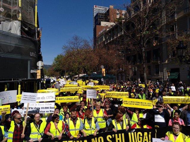 5000 Persones Es Manifesten Per Exigir Un Millor Finançament Pels Cets