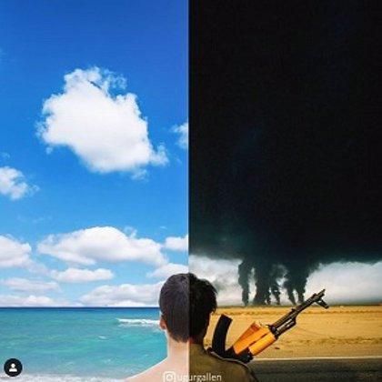 Un artista turco muestra las tristes diferencias entre Oriente y Occidente gracias a sus montajes fotográficos
