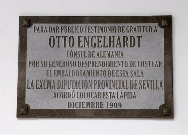 Placa en honor al ingeniero Otto Engelhardt