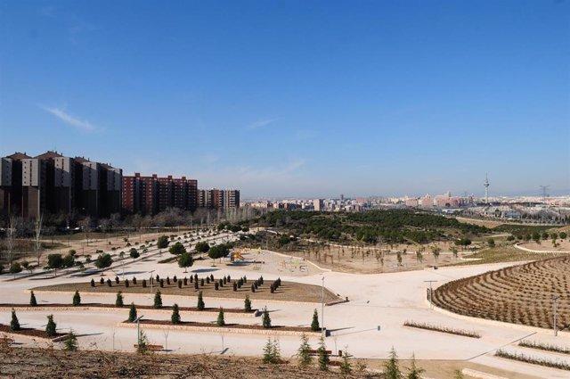 Parque de la Cuña Verde de O'`Donnell en Madrid