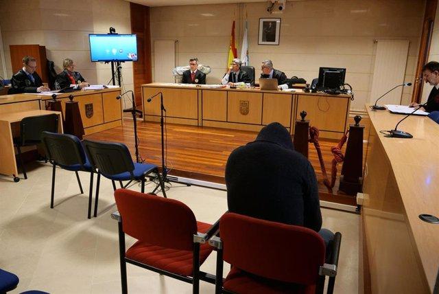 Segunda jornada en Santiago de Compostela del juicio por intento de rapto a una chica en Boiro al asesino confeso del crimen de Diana Quer, José Enrique Abuín, alias 'El Chicle'