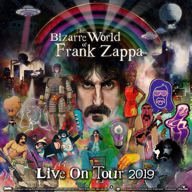 El holograma de Frank Zappa 'ensaya' para el inicio de su inminente gira