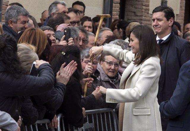 En Lerma, Burgos, la Reina Letizia asiste a la inauguración de la exposición 'Angeli' de la Fundación 'Las Edades del Hombre'