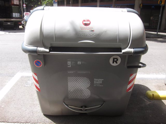 Contenidor gris de Barcelona