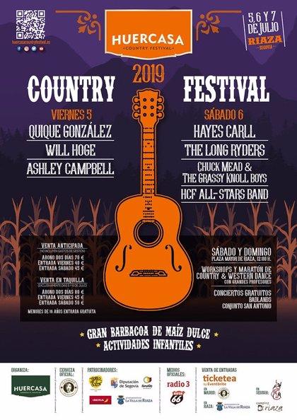 Quique González y Hayes Carll encabezan la sexta edición del Huercasa Country Festival