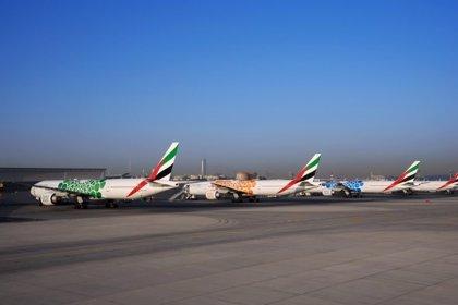 Emirates coloca libreas de la Expo 2020 en 40 de sus aviones
