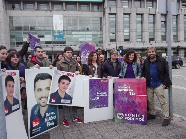 28A.- Unidas Podemos Inicia En Mieres La Campaña Como La Fuerza Política De Voto Útil