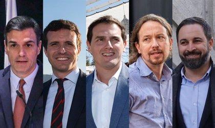 Sánchez arrancará mañana la campaña en Sevilla, mientras Casado, Rivera, Iglesias y Abascal eligen Madrid