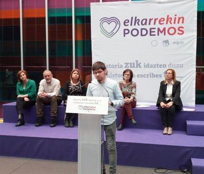 """Elkarrekin Podemos advierte de la doble """"amenaza"""" de la extrema derecha y de un pacto PSOE-Cs"""