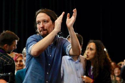"""Iglesias defiende la proyección de los papeles de Bárcenas: """"Orgullosos de que la Plaza Mayor contara verdades"""""""