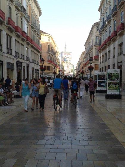 Málaga capital es la ciudad que más incrementa el tráfico peatonal por sus calles comerciales, según TC-Street