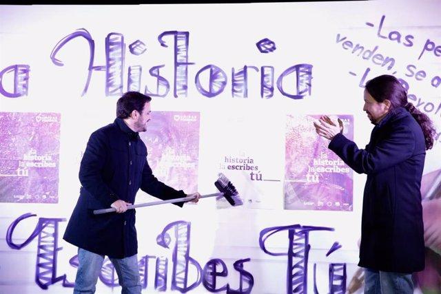 """28A.- Iglesias Demana Omplir Urnes Amb """"Les Veritats D'un País Al Qui Els Poderosos No Li Han D'escriure La Història"""""""