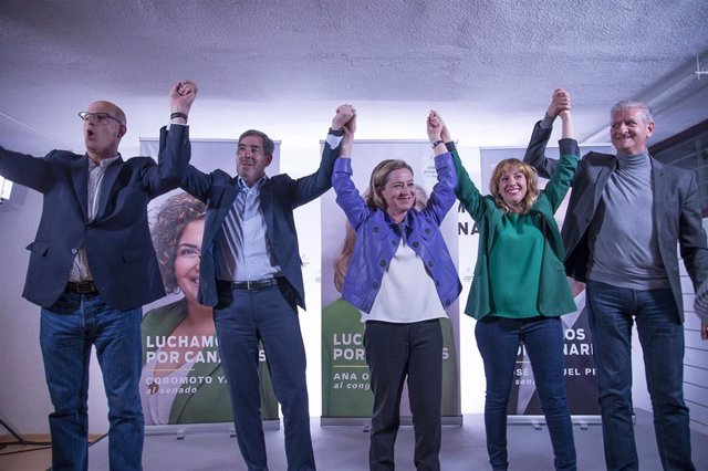 """CC-PNC arranca la campaña electoral apelando al 47% indecisos como garantía contra quienes """"ponen Canarias en el olvido"""""""