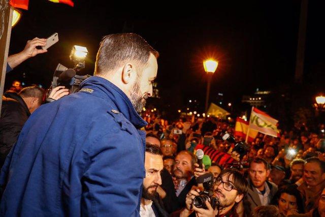 Santiago Abascal y Rocío Monasterio participan en el arranque de campaña de Vox