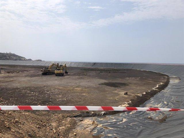 Trabajos de regeneración de la bahía de Portmán