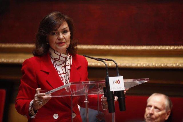 """Carmen Calvo dice que Fuenlabrada es un """"referente"""" del """"compromiso"""" en sus políticas en la lucha por la igualdad"""