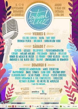 El Festival de la Luz contará en septiembre con bandas como Celtas Cortos, Arizona Baby y Amparanoia