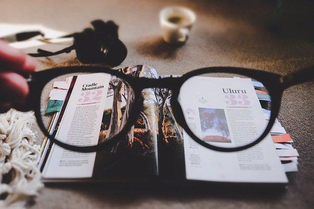 Gafas, miopía, prebicia