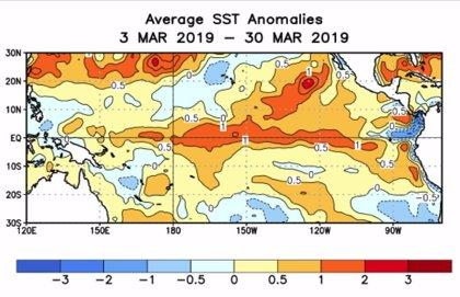 El Niño está siendo diferente, con más impacto en el Pacífico Central