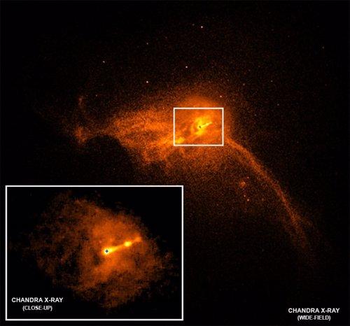 El agujero negro de M87 lanza un chorro de partículas a mil años luz