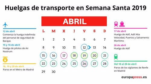 Huelga Semana Santa 2019: los paros en trenes y aviones que pueden afectarte en vacaciones