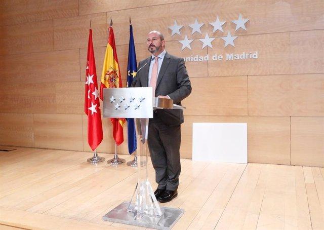 """Comunidad de Madrid ve """"atrevido"""" que Aguado quiera enviar 'menas' a su país de origen al ser competencia de Justicia"""