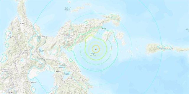 Indonesia.- Alerta de tsunami y orden de evacuación en Indonesia por un seísmo de magnitud preliminar 7,0 en Sulawesi