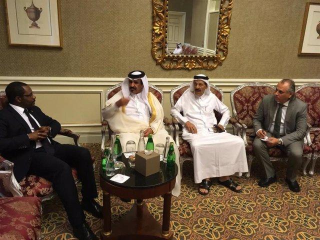 Los países exportadores de gas y los líderes energéticos de Qatar se reúnen con el Ministro de Petróleo de Guinea