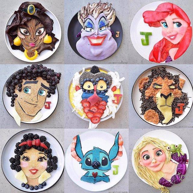 Laleh Mohmedi, la madre que crea platos saludables de personajes de cuento