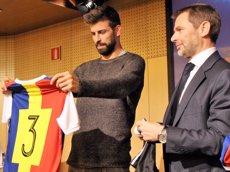 """Gerard Piqué aspira que """"l'himne de la Champions soni a Andorra"""" (EUROPA PRESS)"""