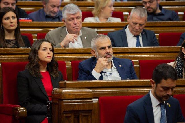 Ple en el Parlament de Catalunya