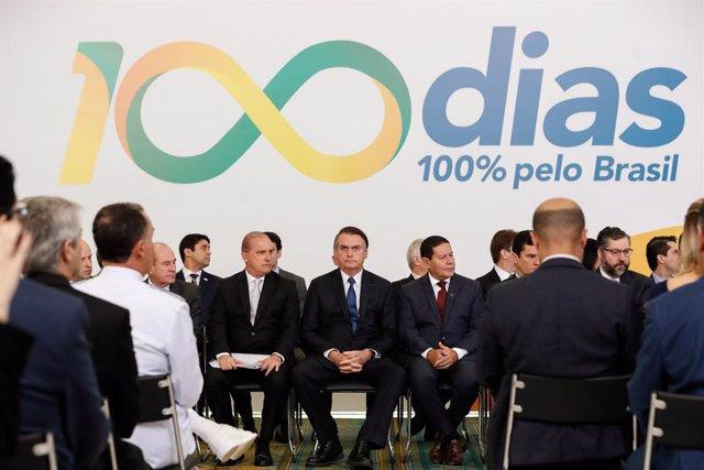 Brazilian President Jair Bolsonaro\'s first 100 days in office