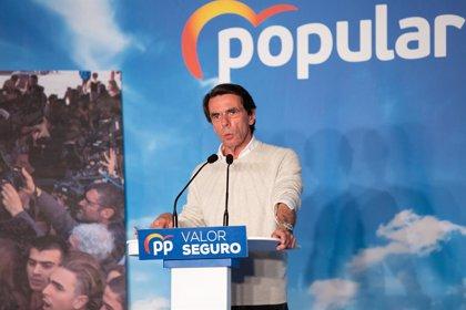 "José María Aznar adverteix que Pedro Sánchez és ""el candidat secessionista"""
