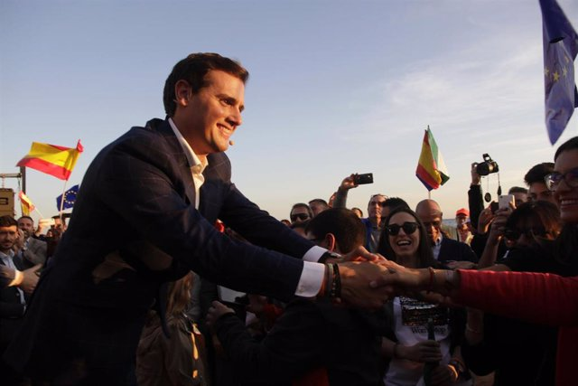 Albert Rivera en un acte electoral a Màlaga