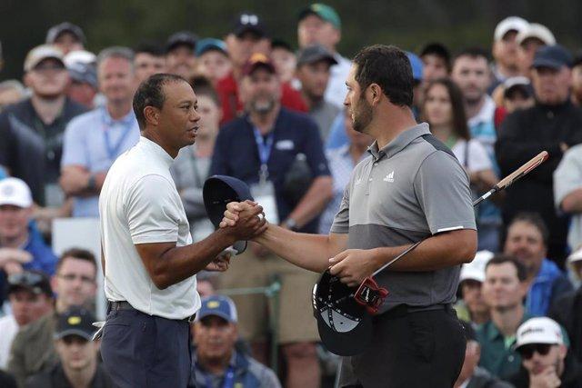 Golf/Masters.- Rahm lucha por lo alto y Tiger se enchufa en Augusta