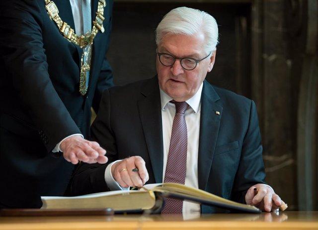 German President Steinmeier visits Leipzig