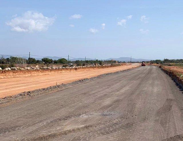 El Consell utiliza materiales ecoáridos en el desdoblamiento de la carretera de Llucmajor a Campos