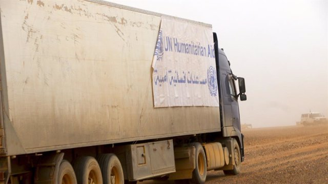 Convoy de ayuda de la ONU a Rukban