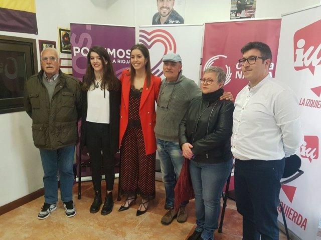 """Cambia Nájera, confluencia de Unidas Podemos, IU y Equo, llega como """"la alternativa para crear un proyecto de progreso"""""""
